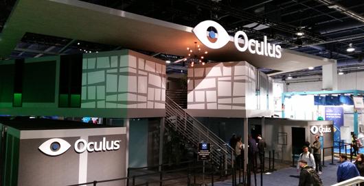 Le stand Oculus Rift au CES 2015