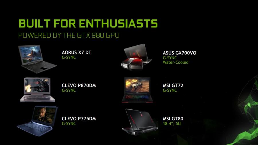 PC portable gtx 980