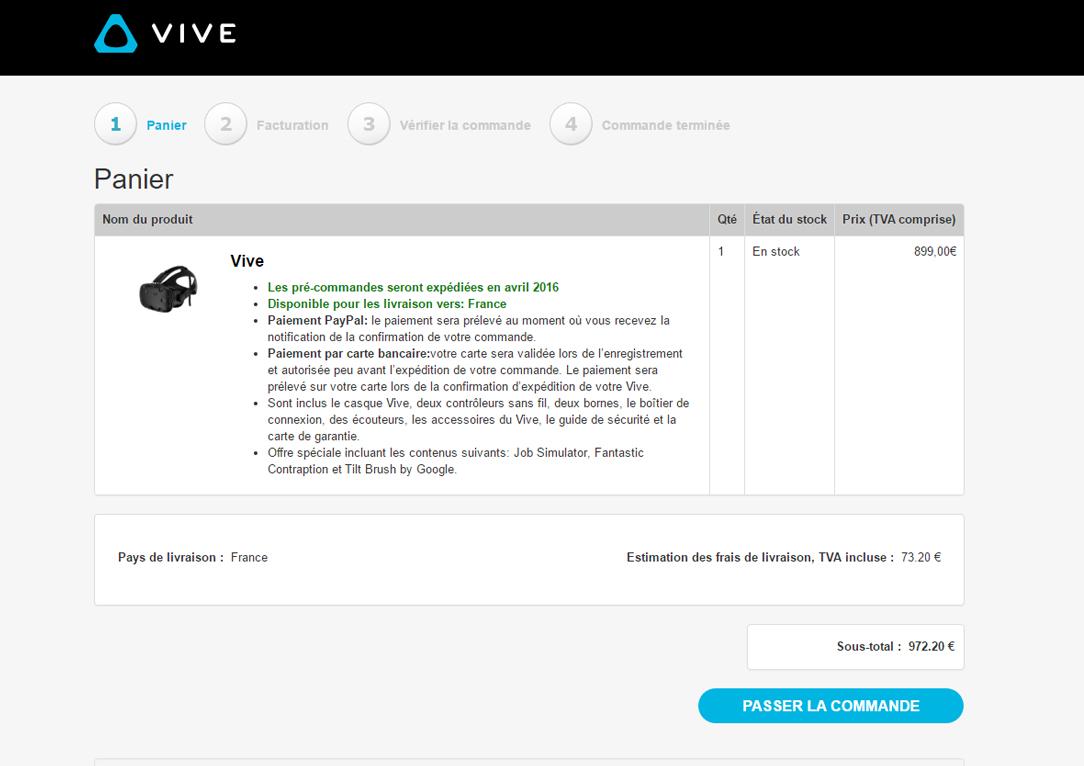 Vive Pre-Order