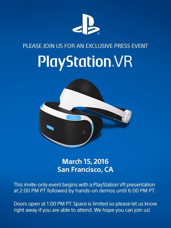march conference playstation vr
