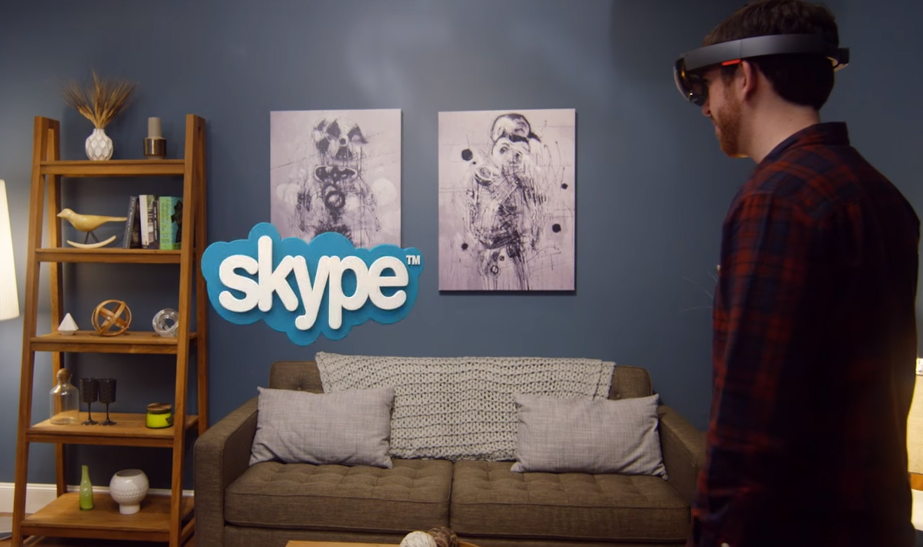 hololens les applications skype et holostudio en vid o. Black Bedroom Furniture Sets. Home Design Ideas