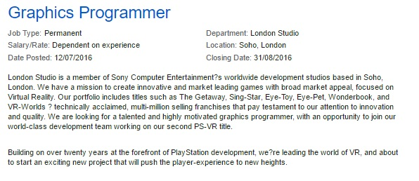 Graphics-Programmer Sony London