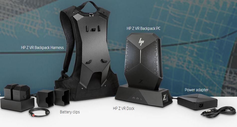hp z vr backpack un pc de bureau emporter sur le dos. Black Bedroom Furniture Sets. Home Design Ideas